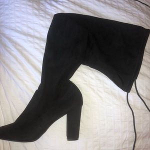 CHINESE LAUNDRY HIGH HEELED KNEE HIGH BOOTS